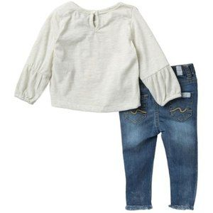 7 FOR ALL MANKIND - Shirt and Raw Hem Jeans Set.